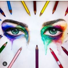 Colourful Pencil Drawings by @majla_art . Support their Instagram. ✏️ Shared by Kitslam YouTube