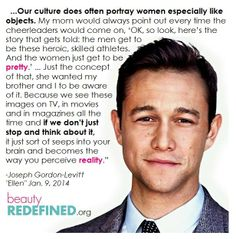 Jason Gordon-Levitt on the objectification of women