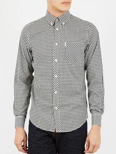 Ben Sherman Classic Gingham Check Long Sleeve Shirt - Black