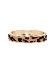 Leopard Print Magnetic Bangle Bracelet
