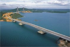 The Barelang Bridge is a chain of 6 bridges of various types that connect the islands of Batam, Rempang, and Galang.