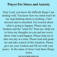 Prayer for Stress and Anxiety (Relationship Prayer) Prayer For Difficult Times, Prayer Times, Prayer Scriptures, Bible Prayers, Faith Prayer, God Prayer, Prayer Quotes For Strength, Difficult Times Quotes, Exam Prayer