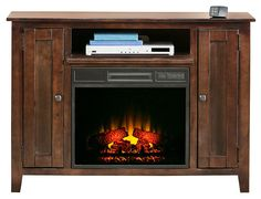 Wrigley Collection - Dark Pine Fireplace Console