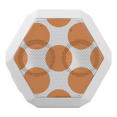 Pumpkin Orange Polka Dots White Bluetooth Speaker