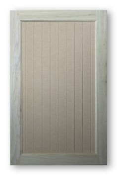 Inset Vee Groove Panel Cabinet Door - Madison - Poplar Frame With MDF Panel