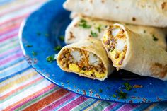 These frozen breakfast burritos are perfect for busy school mornings or feeding a large crowd for a holiday or party. It's a great make ahead breakfast your kids can reheat all by themselves. Frozen Breakfast, Breakfast For Kids, Breakfast Recipes, Breakfast Wraps, Breakfast Sandwiches, Breakfast Healthy, Breakfast Dishes, Breakfast Casserole, Breakfast Ideas