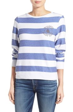 Wildfox 'Baggy Beach Jumper - Yacht Club' Stripe Pullover available at #Nordstrom