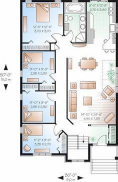 casa de un pisos cuatro y m plano