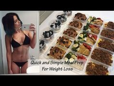 Meal Prep With Me: Simple and Easy Food Designed For Weight Loss || MCD - YouTube