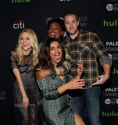 Actors Johanna Braddy Aunjanue Ellis Priyanka Chopra and Jake McLaughlin attendsPaleyFest New York 2016 'Quantico' at The Paley Center for Media on...