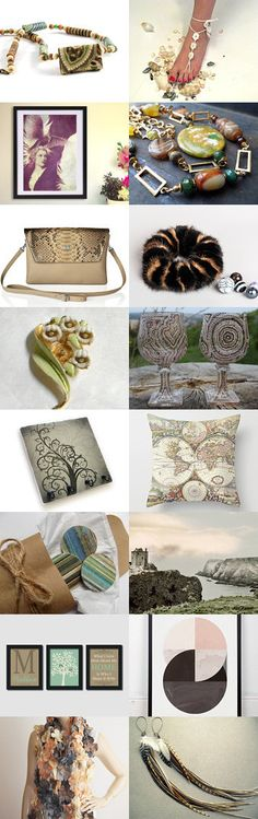 Gifts in Earth Tones by Gabbie on Etsy-