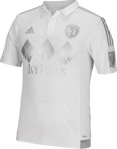 bf19dd352 Take your Sporting Kansas City on field for the next match in this SKC Mens  Adidas White Authentic Third Soccer Jersey! Rally House has a great  selection of ...