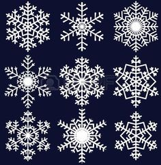 Find Beautiful snowflakes set for christmas winter design stock vectors and royalty free photos in HD. Explore millions of stock photos, images, illustrations, and vectors in the Shutterstock creative collection. of new pictures added daily. Paper Snowflakes, Christmas Snowflakes, Christmas Cross, Christmas Diy, Christmas Decorations, Xmas, Holiday, Snowflake Designs, Snowflake Pattern