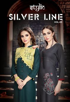 0c20046ebf STYLIC SILVER LINE VOL 5 FANCY RAYON PRINTED STRAIGHT CASUAL READYMADE  KURTIS WHOLESALER Fashion Outfits,