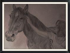 """""""Dee and Big Boy"""", graphite on paper, 14x17 Artist: Ken Wilson"""