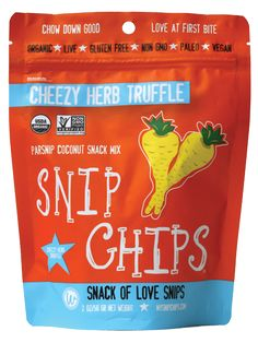 Snip Chips Cheezy Herb truffle, Cilantro Chipotle