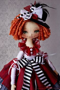 A re make of Monster High's Operetta Doll or based on the design for. Bjd Doll, Doll Toys, Rag Dolls, Gothic Dolls, Doll Painting, Sewing Toys, Waldorf Dolls, Soft Dolls, Soft Sculpture