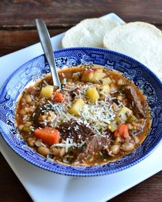 Not-So-Mini-Strone | Minestrone soup with meat to please the carnivores - Fall Food, Soups