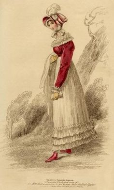 Morning walking dress, October 1814