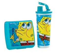 Tupperware | SpongeBob SquarePants™ Lunch Set  Back to school special.  Your sandwich will not get flat again.  Freeze your drink. It will stay cold all day.  Only $19 for the set!