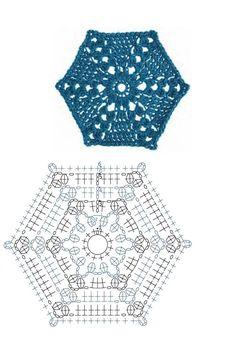 шестиугольные мотивы крючком со схемами: 14 тыс изображений найдено в Яндекс.Картинках