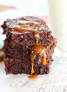 The Best Salted Caramel Brownie Recipe ~ complete with step-by-step photo instructions...a recipe for easy homemade caramel is included, or use store-bought caramel sauce