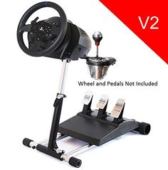 Deluxe Racing Steering Wheelstand for Thrustmaster T300RS(PS4), TX Leather, T150, TX458(Xbox One) Original Wheel Stand Pro Stand V2. Wheel and Pedals Not included