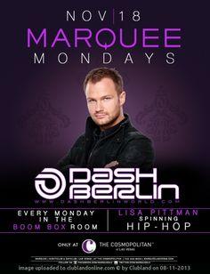 Marquee Nightclub Presents: Dash Berlin 18.11.2013 | Marquee (Las Vegas) Las Vegas