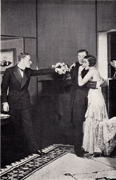 Leslie Howard, Reginald  Owen and Gertrude Lawrence in Candle-light, Empire Theatre, Broadway, September 30, 1929