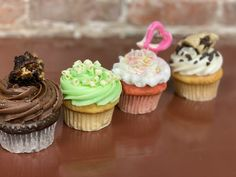 January 2020 Feature Cupcake Flavors Turtle brownie fudge, Key Lime, Strawberry Champagne and Cookie Dough Cupcake Flavors, Gourmet Cupcakes, Mini Cupcakes, Turtle Brownies, Chocolate Turtles, Brownie Ingredients, Strawberry Champagne, Caramel Pecan, Unsweetened Cocoa