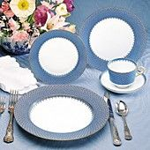 """Mottahedeh """"Lace"""" Dinnerware. Love the pattern"""