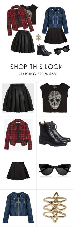 """""""Amamos jaquetas"""" by juijx ❤ liked on Polyvore featuring Balmain, True Religion, Yves Saint Laurent, Alice + Olivia, The Row, Cynthia Rowley and Rebecca Taylor"""