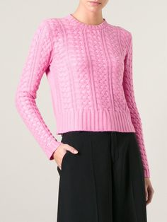 Valentino Cable Knit Sweater - Maria Store - Farfetch.com