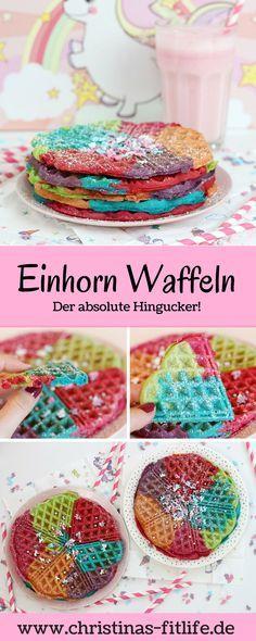 Einhorn Waffeln - der absolute Hingucker! Das ultimative Rezept fuer alle Einhorn Fans!