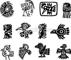Glifo de mexicana y maya — Ilustración de stock #11037350