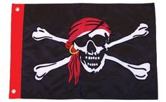 In the Breeze 12 by 18-Inch I'm a Jolly Roger Applique Pirate Flag by In the Breeze. $11.02. Detailed applique and embroidery graphic. Quality weather resistant polyester fabric. Brass grommets. In the Breeze 12 x 18 inch I'm a Jolly Roger Applique Pirate Flag is made with quality weather resistant polyester fabric. The detailed graphic has been applique and embroidered. These flags have a beautiful classic feel.. Save 15% Off!