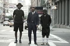 An Unknown Quantity | New York Fashion Street Style Blog by Wataru Bob Shimosato | ニューヨークストリートスナップ: #388 Shaka Maidoh, Matteo Gioli and Sam Lambert on Broome St, SoHo, New York.