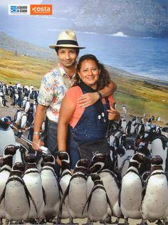 Pinguino con Sombrero de Paja Toquilla