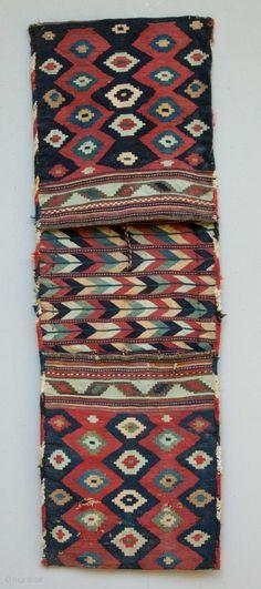 antique Caucasian Saddlebags 165 x 56 cm.