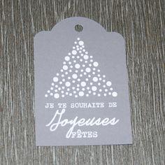 """9 étiquettes cadeau """"Je te souhaite de Joyeuses Fêtes"""" : Emballages cadeaux par creerpourvous"""