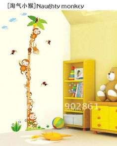 Cheap sticker cartoon, Buy Quality wall art sticker directly from China wall sticker decor Suppliers: [funlife]-Removable150cm Measure Lion & Balloon Wall Height Tower Growth Chart Sticker Decals for Kids RoomUS $ 6.99/pie