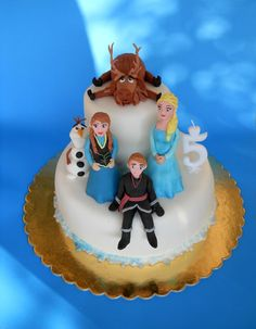 Frozen Elsa Anna Olaf Kristof Sven by MarzipanDecorations