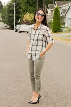 pointed toe pumps :: cargo pants