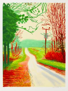David Hockney, The Arrival of Spring in Woldgate, East Yorkshire in 2011 (2011), via Pace Gallery