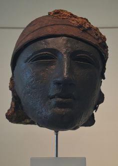 Bronze helmet with face mask, found at Noviomagus (Kops Plateau), Museum het Valkhof, Nijmegen (Netherlands) | Flickr - Photo Sharing!
