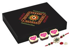 Buy rakhi online with chocolates, best gift for sister & brother.Rakhi gifts for brother - 9 Chocolate Gift Box - Rakhi Gift to brother with Rakhi Rakhi For Brother, Rakhi Gifts For Sister, Best Gift For Sister, Gifts For Brother, Buy Rakhi Online, Chocolate Gift Boxes, Online Gifts, Best Gifts, Decorative Boxes