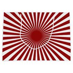 Red and White Pinwheel Large Gift Bag