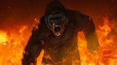 King Kong Strikes Back in Fiery 'Skull Island' Concept Art Godzilla, Tom Hiddleston, King Kong 1933, Dillon Francis, Smile Images, Cinema, Skull Island, Movie Wallpapers, Concept Art