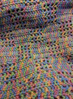 afghan, baby blanket, nursery, crib blanket, toddler, newborn, baby gift, shower gift, retro, Blue mingled checkered pattern 30 x 40 by KudzuCatCreations on Etsy