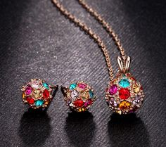 Buy Rose Gold Fashion Ball Pendants Jewelry Set from Casualbugtech, with Free Estimated Delivery Time:12-20days Item Type:Jewelry Sets Fine or Fashion:F...